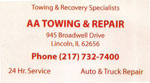 AA Towing and Repair