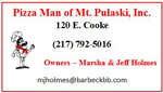 Pizza Man of Mt. Pulaski, Inc.
