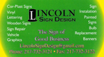 Lincoln Sign Design